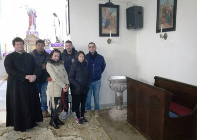 A Ceferino Ház ifi zarándokai a plébánossal