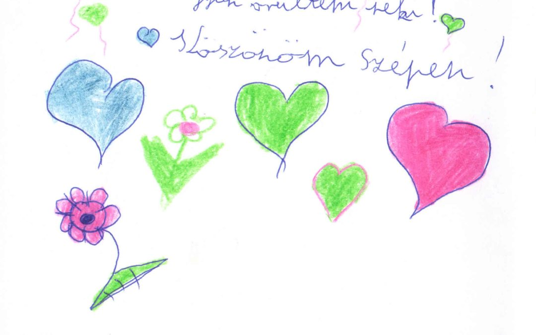 Szátoki gyerekek karácsonyi köszönő levelei