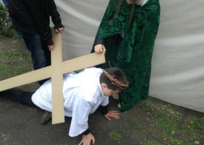Jézus elesett