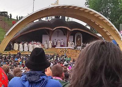 A Pápai mise közben