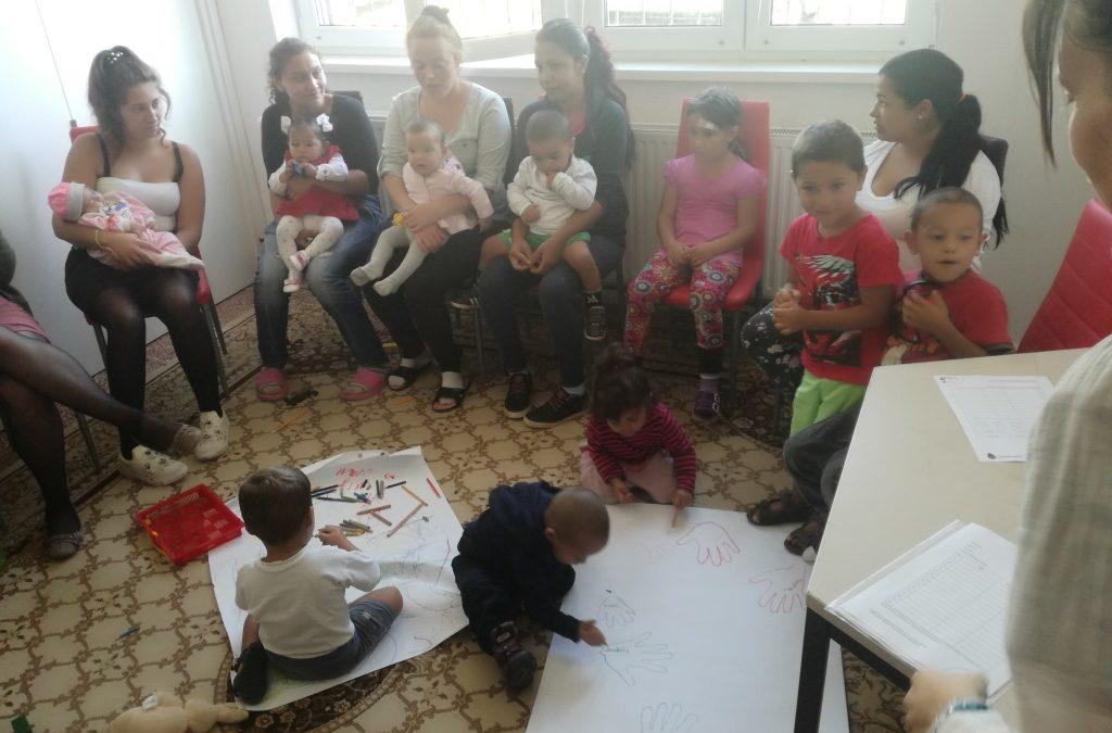Baba-mama klub a Ceferino Házban